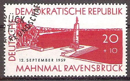 DDR 720 o Mahnmal Ravensbrück 1959 (2018276)