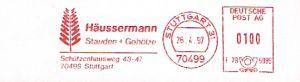 Freistempel F78 5985 Stuttgart - Häussermann Stauden (Abb. Baum) (#102)