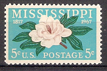 USA 938 ** 150 Jahre Staat Mississippi / Magnolie (20189)