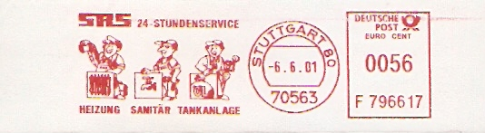 Freistempel F796617 Stuttgart - SRS Heizung, Sanitär, Tankanlage (Abb. Monteure / Arbeiter) (#48) 0