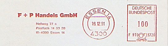 Freistempel F91 3720 Essen - F+P Handels GmbH (#371) 0