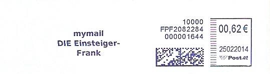 Freistempel Österreich FPF2082284 Wien - mymail / DIE Einsteiger-Frank (#300)
