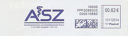 Freistempel Österreich FPF2086333 Linz - ASZ (Abb. Äskulapnatter) (#278)