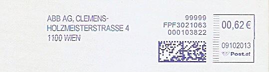 Freistempel Österreich FPF3021063 Wien - ABB AG (#305)