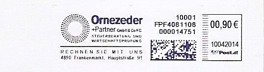 Freistempel Österreich FPF4081108 Frankenmarkt - Ornezeder Steuerberatung (#284)