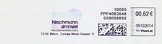 Freistempel Österreich FPF4082048 Wien - Hirschmann Simmerl Präzisionswerkzeuge (#286)