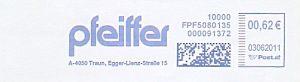 Freistempel Österreich FPF5080135 Traun - Pfeiffer (#303)