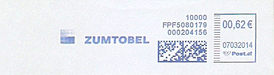 Freistempel Österreich FPF5080179 Dornbirn - ZUMTOBEL (#299)