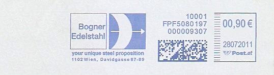 Freistempel Österreich FPF5080197 Wien - Bogner Edelstahl (#281)