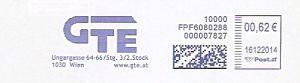 Freistempel Österreich FPF6080288 Wien - GTE (#302)