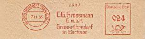 Freistempel Grossröhrsdorf (Oberlausitz) - Grossmann GmbH 1953 (#200)