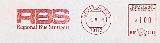 Freistempel H01 3011 Stuttgart - RBS Regional Bus Stuttgart (#198)
