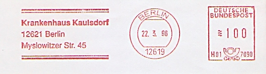 Freistempel H01 7090 Berlin - Krankenhaus Kaulsdorf (#331) 0