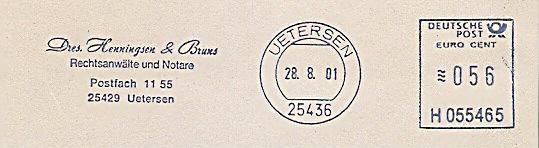 Freistempel H055465 Uetersen - RA Henningsen (#225)