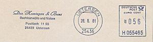 Freistempel H055465 Uetersen - Dres. Henningsen und Bruns - Rechtsanwälte und Notare (#225)