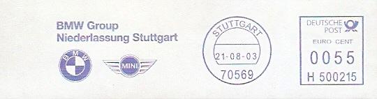 Freistempel H500215 Stuttgart - BMW Group (Abb. BMW & MINI Logos) (#54)