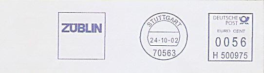 Freistempel H500975 Stuttgart - ZÜBLIN (#236)