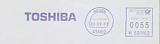 Freistempel H501102 Neuss - TOSHIBA (#203)