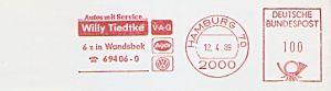 Freistempel Hamburg - Willy Tiedtke V-A-G (#332)