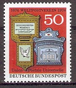 BRD 825 ** 100 Jahre Weltpostverein (UPU) (201922)