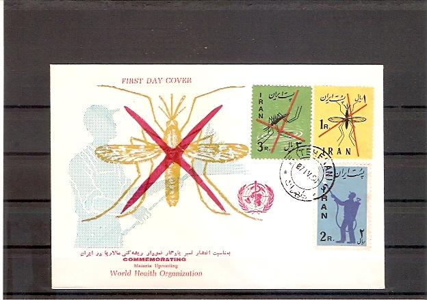 Iran 1077 - 1079 FDC Kampf gegen die Malaria und das Sumpffieber 1960 (fdc20)