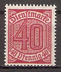 Deutsches Reich Dienstmarke 28 ** (201929)