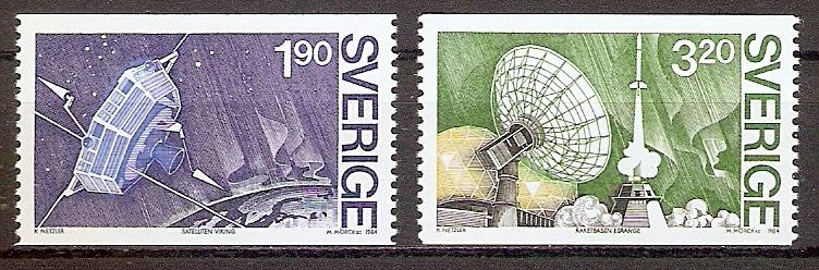 Schweden 1305 - 1306 ** Schwedisches Satellitenprojekt VIKING 1984 (201933)