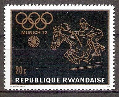 Ruanda 455 ** Olympische Spiele München 1972 / Springreiten (201934)