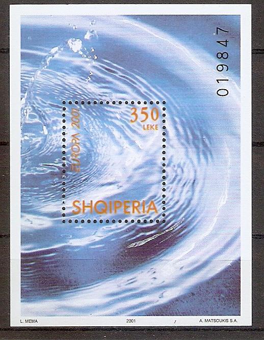 Albanien Block 130 ** Europa CEPT 2001 / Lebensspender Wasser (201935)