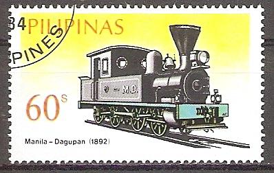 Philippinen 1639 o Dampflokomotive Manila - Dagupan 1892 (201938)