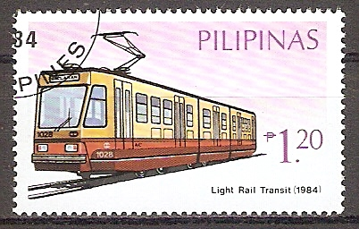 Philippinen 1640 o Stadtbahnzug Light Rail Transit 1984 (201939)