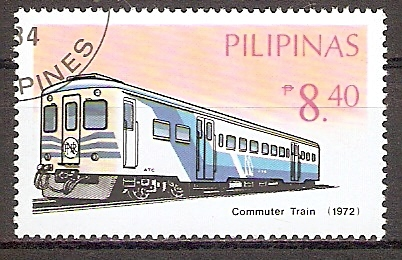 Philippinen 1643 o Triebwagen Commuter Train 1972 (201940)