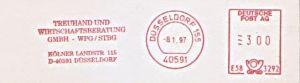 Freistempel E58 3292 Düsseldorf - Treuhand und Wirtschaftsberatung GmbH - WPG / STBG (#428)