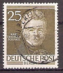 Berlin 98 o Berühmte Männer 1952 / Karl Friedrich Schinkel (201941)