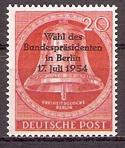 Berlin 118 ** Wahl des Bundespräsidenten 1954 (201942)