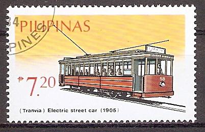 Philippinen 1642 o Straßenbahn Tranvina 1905 (201945)