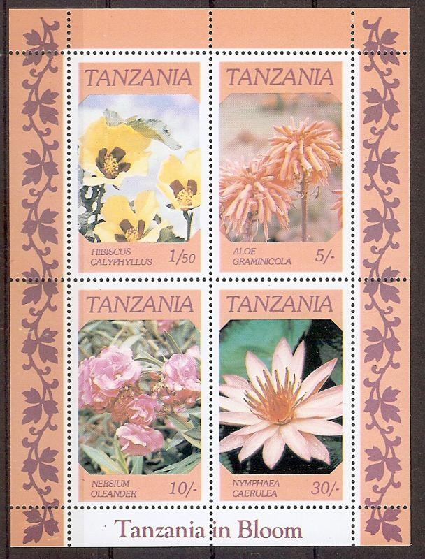 Tansania Block 57 ** Blumen 1986 (201946)