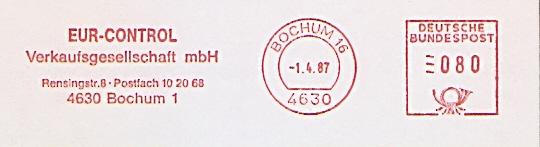 Freistempel Bochum - EUR-CONTROL Verkaufsgesellschaft mbH (#439)