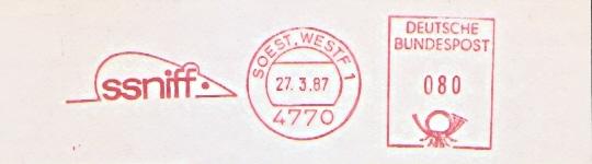 Freistempel Soest  - ssniff (Abb. Maus) (#440)