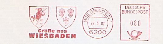 Freistempel Wiesbaden - Grüße aus Wiesbaden (Abb. Wappen) (#442)