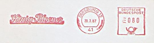 Freistempel Duisburg - König-Pilsener (#443)