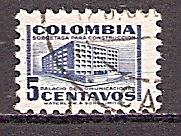 Kolumbien 637 o Aufbau von Postgebäuden 1952 (201962)