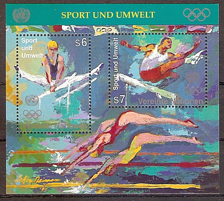 UNO Wien Block 7 ** 100 Jahre Olympische Spiele der Neuzeit 1996 (201986)