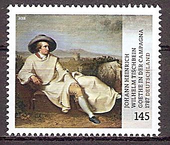 BRD 3393 ** Goethe in der Campagna 2018 (201996)