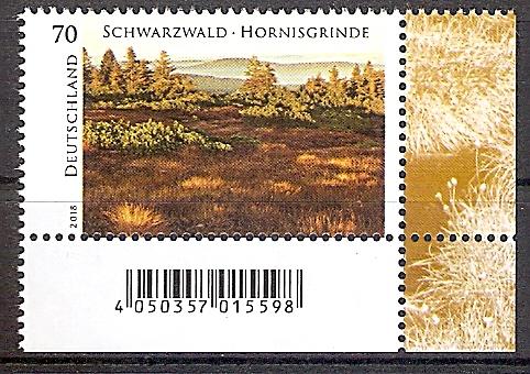 BRD 3428 ** Hornisgrinde im Schwarzwald 2018  - Bogenecke u.r. - Barcode (2019105)