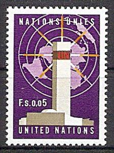 UNO-Genf 1 ** UNO-Hauptquartier, New York; UNO-Emblem 1969 (2019106)