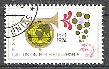 UNO-Genf 39 o 100 Jahre Weltpostverein (UPU) 1974 (2019115)
