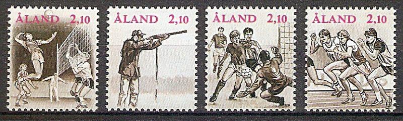 Aland 47-50 ** Internationale Sportspiele der kleinen Inseln 1991 (2019141)