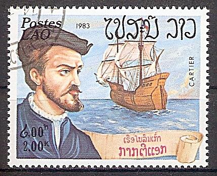 Laos 677 o Seefahrer Jacques Cartier (2019155)