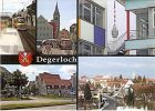 AK Stuttgart Degerloch - Zahnradbahn \Zacke\ Degerloch, Bezirksrathaus und Michaelskirche, Fernsehturm, Blick zur Epplestraße, Degerloch (Blick vom Hoffeld) (1235)